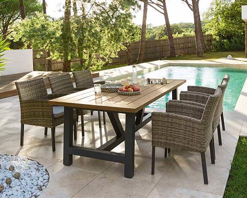 Table de jardin ronde carrée ou rectangle Hespéride : grand choix !