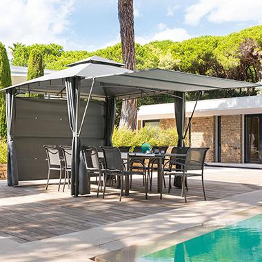 Tonnelle de jardin hesp ride et jardipolys pour votre terrasse en stock - Comment monter une tonnelle de jardin ...