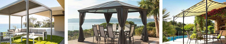 amenagement pergola terrasse amnagement de terrasse chez. Black Bedroom Furniture Sets. Home Design Ideas