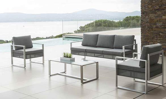 Le Salon De Jardin En Aluminium Pour Une Deco Moderne Sur La