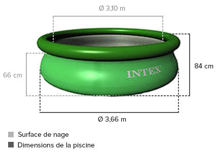 Piscine autoport e intex x 0 84 m pas cher jardideco for Piscine intex 3 66