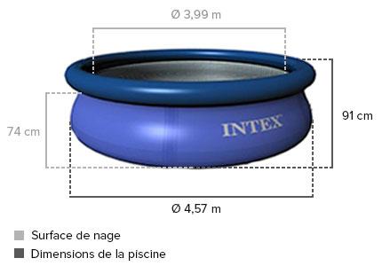 Piscine autoport e intex 4 57 x 0 91 m easy set jardideco - Piscine intex 4 57 x 0 91 ...