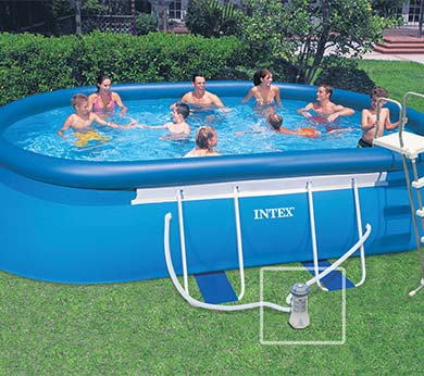 piscine autoport e ovale easy set intex 5 49 x 3 05 x 1 07 m