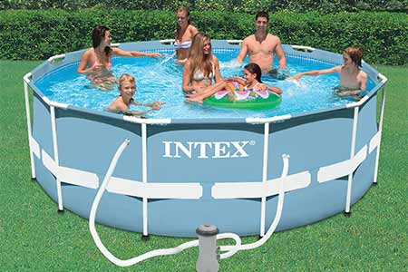 Piscine tubulaire ronde intex 3 66 x 1 22 m filtration prix mini - Peut on se baigner pendant la filtration de la piscine ...