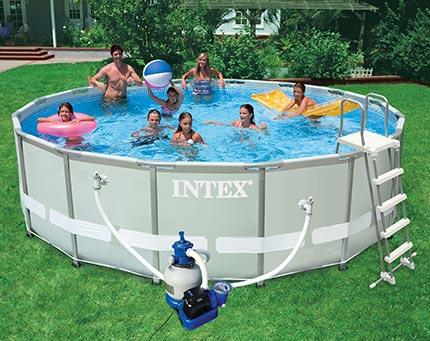piscine tubulaire intex ultra frame ronde 4 88 x1 22 m. Black Bedroom Furniture Sets. Home Design Ideas