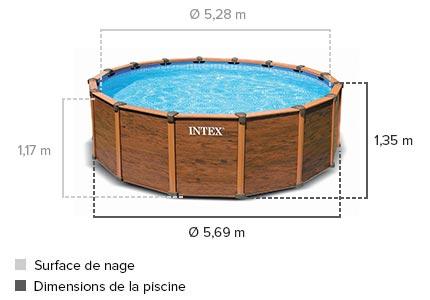 Piscine s quoia spirit intex 5 69 x 1 34 m achat jardideco for Accessoire piscine 69