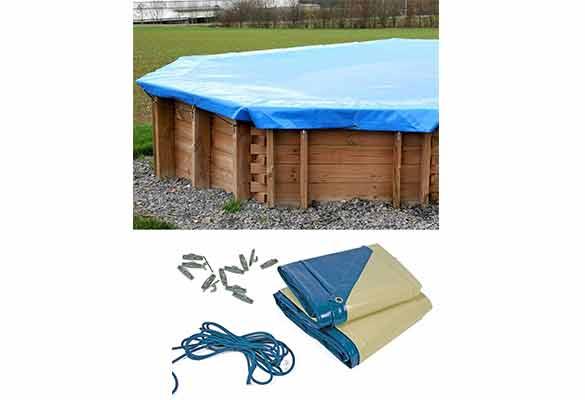 B che d 39 hivernage pour piscine rectangulaire sunbay for Bache piscine sunbay