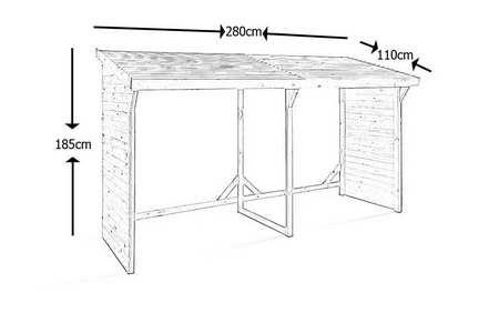 plan abri buches gratuit. Black Bedroom Furniture Sets. Home Design Ideas