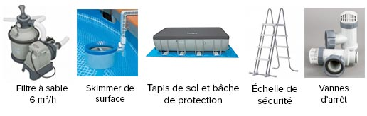 Piscine tubulaire rectangulaire intex 7 32 m filtration for Vanne d arret piscine hors sol 32 38mm