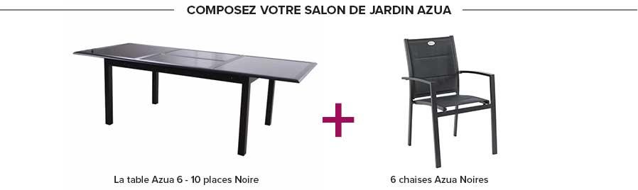 Table rectangulaire azua 6 10 places extensible noire - Nettoyer une table en verre sans trace ...