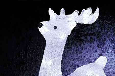 Deco noel cerf lumineux