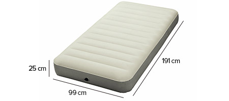 matelas gonflable intex downy 1 place avec fiber tech jardideco. Black Bedroom Furniture Sets. Home Design Ideas