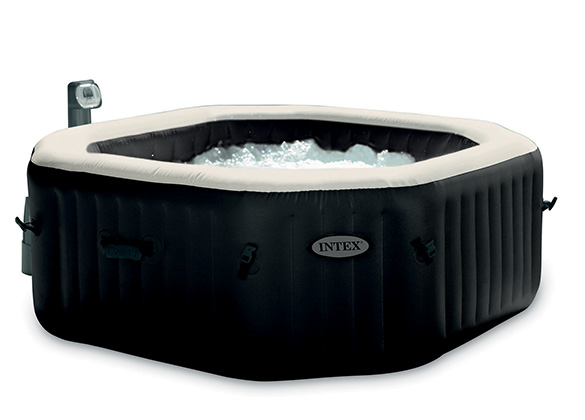 spa gonflable purespa octogonal bulles jets 6 places intex. Black Bedroom Furniture Sets. Home Design Ideas