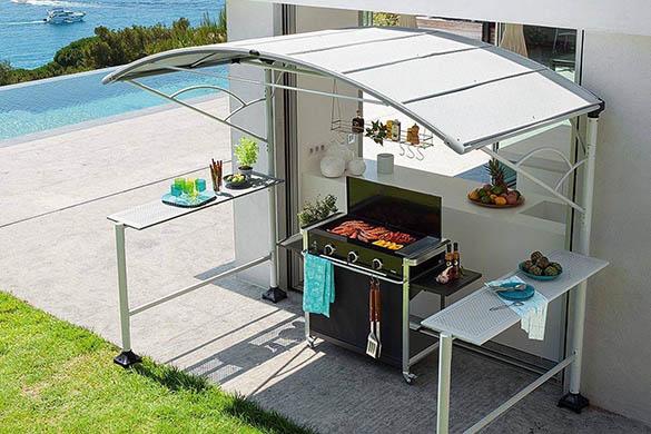 Abri pour barbecue mod le neiba taille au choix eno for Abri pour cuisine exterieure