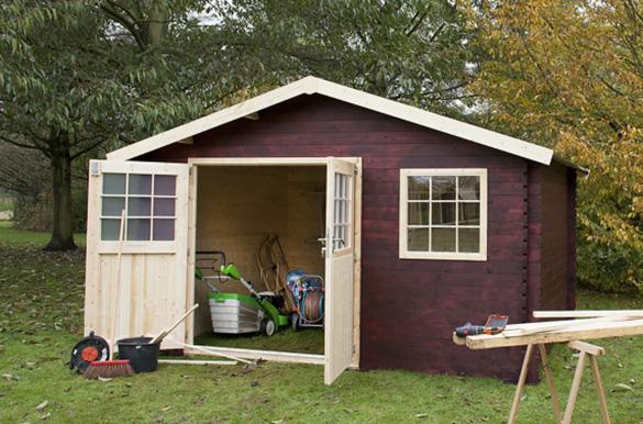 abri de jardin bois mono pente 28 mm m jardideco. Black Bedroom Furniture Sets. Home Design Ideas