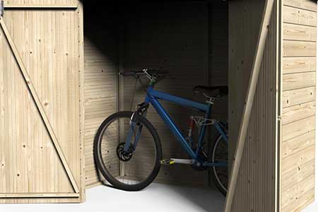 coffre de rangement en bois abri pour v lo bike box jardideco. Black Bedroom Furniture Sets. Home Design Ideas