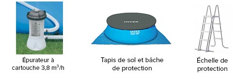 Piscine autoport e easy set intex 4 57 x 1 22 m for Piscine intex 4 57 x 1 22