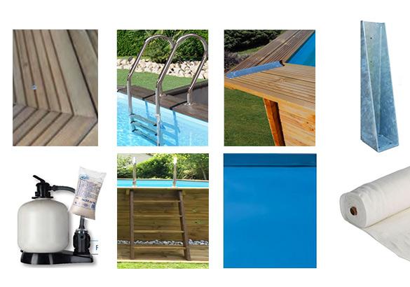 Piscine bois sunbay mint 10 x 4 x 1 46 m filtre et for Accessoire pour piscine bois