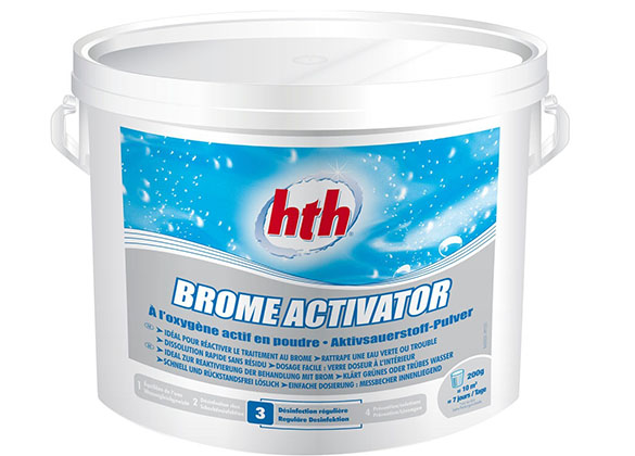 Brome activator en poudre hth pour piscine 5kg jardideco - Eau de piscine verte et trouble ...