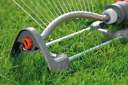 Arroseur oscillant polo 220 classic gardena jardideco - Arroseur rotatif grande surface ...