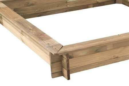 bac sable en bois carr oscar forest style jardideco. Black Bedroom Furniture Sets. Home Design Ideas