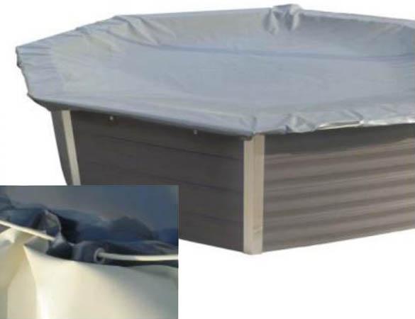 B che d 39 hivernage pour piscine composite gr octogonale - Bache d hivernage pour piscine ...