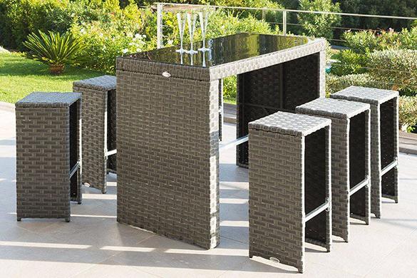 bar de jardin en r sine tress e tinos. Black Bedroom Furniture Sets. Home Design Ideas