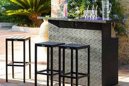 bar de jardin avec 3 tabourets hesp ride prix mini. Black Bedroom Furniture Sets. Home Design Ideas
