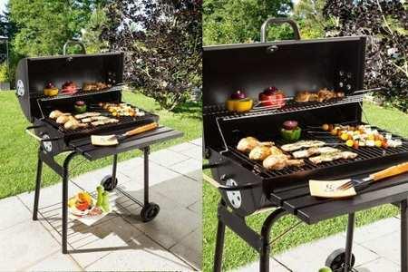 barbecue au charbon de bois baril en acier cardenas jardideco. Black Bedroom Furniture Sets. Home Design Ideas