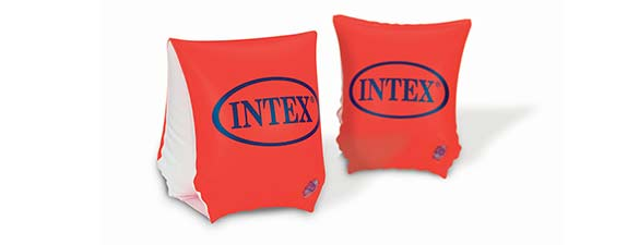 brassards piscine rouge intex 1 3 ans