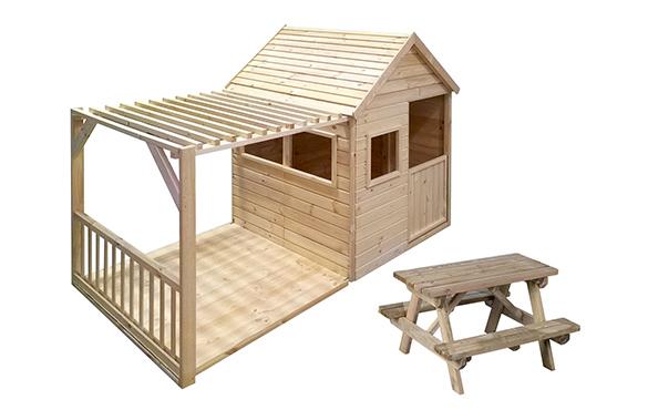 Cabane enfant en bois modulable mod le margot forest style - Cabane jardin oui oui rennes ...