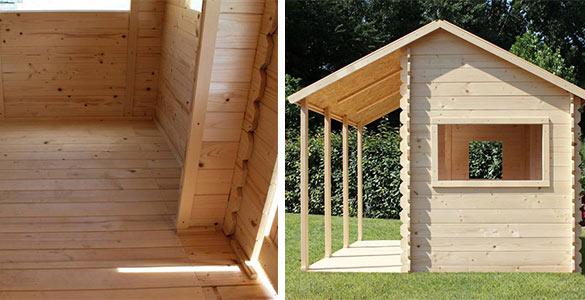 Cabane enfant soulet en bois mod le constance prix mini for Prix cabane en bois