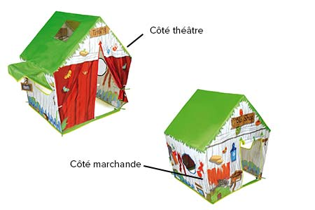 cabane enfant pas cher maison des bois en tissu soulet. Black Bedroom Furniture Sets. Home Design Ideas