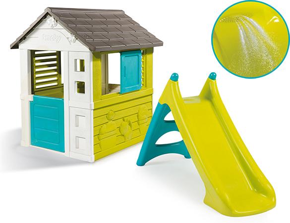 cabane enfant pretty smoby petit prix jardideco. Black Bedroom Furniture Sets. Home Design Ideas