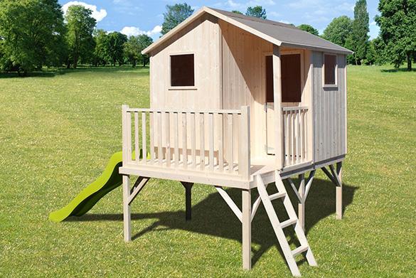 cabane enfant en bois sur pilotis mod le sixtine soulet. Black Bedroom Furniture Sets. Home Design Ideas