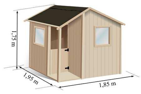 Cabane enfant en bois soulet mod le lisa prix mini for Prix cabane en bois