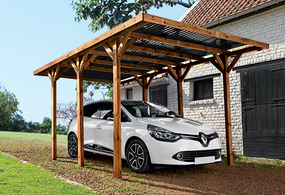 carport en bois trait mod le enzo 15 7 m madeira. Black Bedroom Furniture Sets. Home Design Ideas