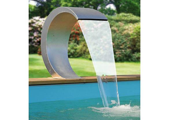cascade de piscine en inox ubbink mamba jardideco. Black Bedroom Furniture Sets. Home Design Ideas