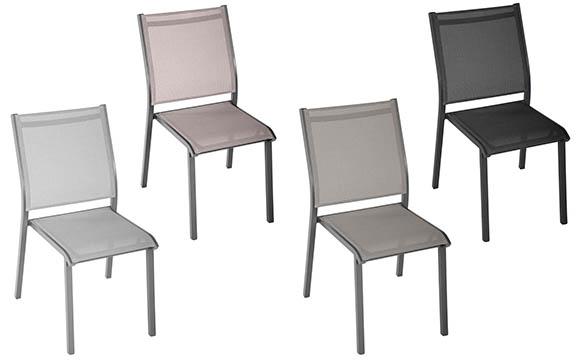 chaise de jardin empilable hesperide aluminium mod le essentia. Black Bedroom Furniture Sets. Home Design Ideas