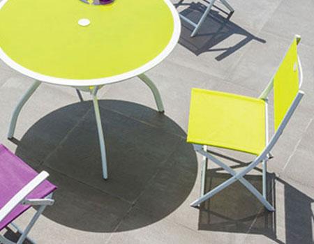 Chaise de jardin pliante Modula Hespéride | Jardideco