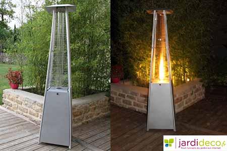 Parasol chauffant favex gaz mod le flamme prix mini for Chauffage exterieur gaz design