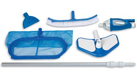 Kit d 39 entretien nettoyage piscine hors sol intex jardideco for Kit aspirateur intex