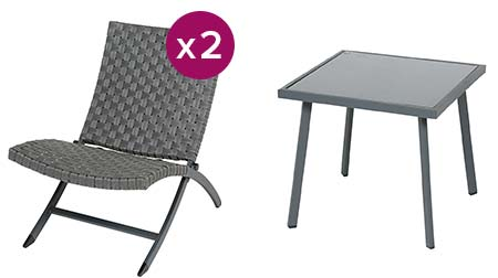 salon de jardin resine tressee hesperide san juan 2 places. Black Bedroom Furniture Sets. Home Design Ideas