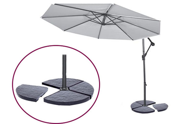 dalle parasol d port b ton 18kg anthracite jardideco. Black Bedroom Furniture Sets. Home Design Ideas