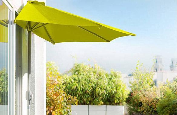 demi parasol de balcon hesp ride mod le serena couleur au choix. Black Bedroom Furniture Sets. Home Design Ideas