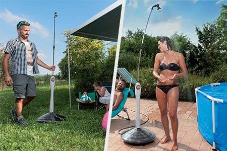 Douche solaire pour piscine sunny style premium jardideco - Chauffer sa piscine avec tuyau noir ...