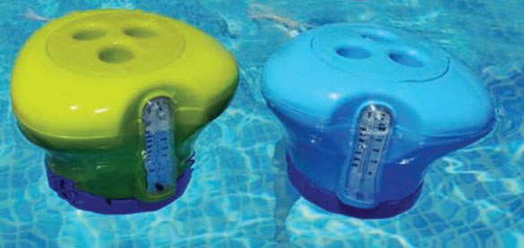 Thermom tre piscine et distributeur de chlore 2 en 1 kokido for Thermometre piscine design