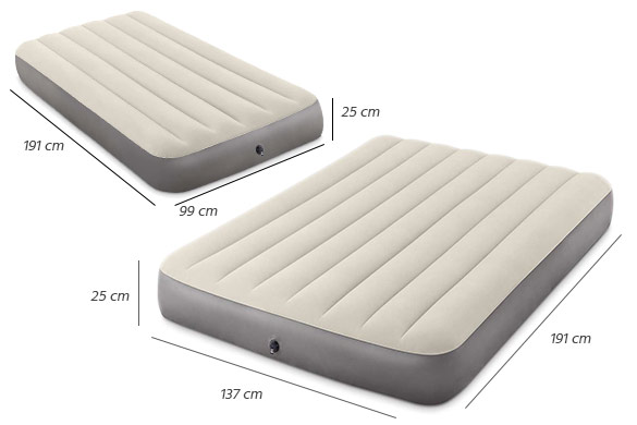 matelas gonflable intex downy fiber tech 1 ou 2 personnes. Black Bedroom Furniture Sets. Home Design Ideas