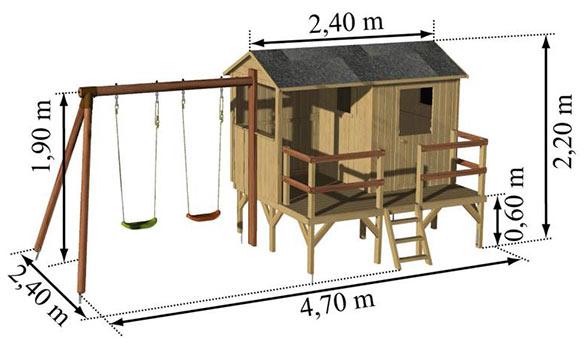Aire d ejeux en bois mod le cassandre soulet livraison gratuite - Aire de jeux soulet ...