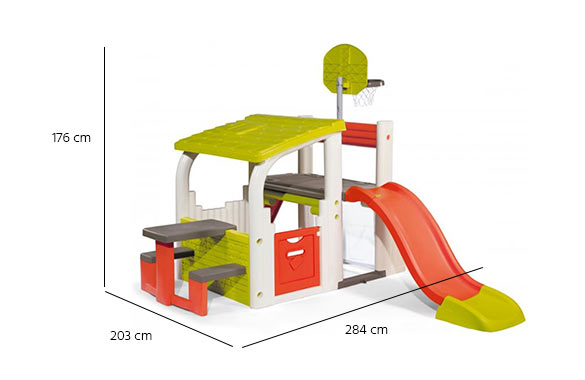 dimensions aire de jeux fun center smoby